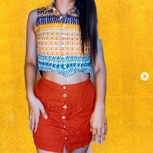 Top skirt eclectic set